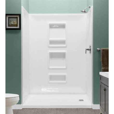 3 Shower Kit by Style Selections White 3 Alcove Shower Kit Common