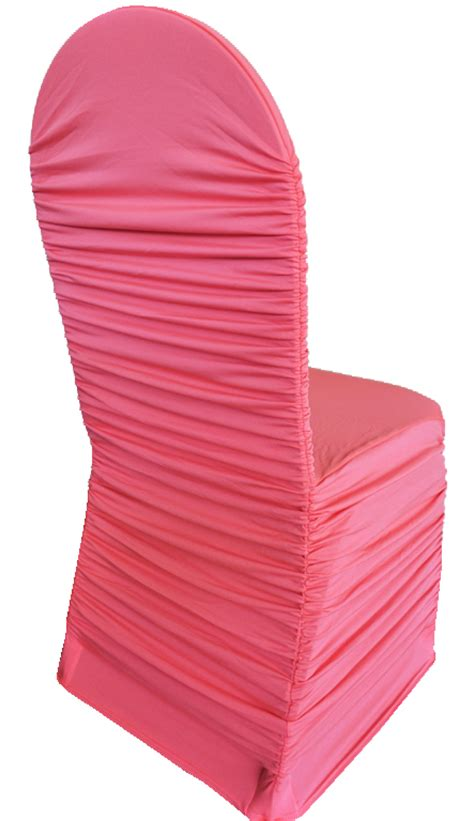 coral spandex stretch chair covers