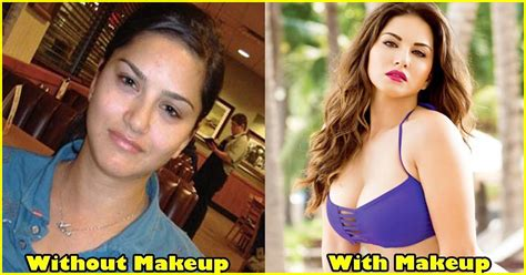 sunny leone  makeup  sensational real life pictures