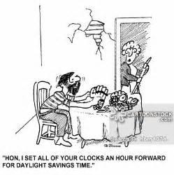 Daylight Savings Time Clock Cartoon