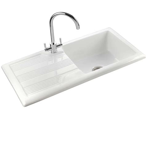 kitchen sinks portland rangemaster portland cpl10101wh ceramic sink kitchen 3044