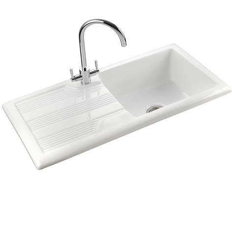 Rangemaster Portland Cpl10101wh Ceramic Sink  Kitchen