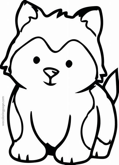 Coloring Pages Husky Puppy Siberian Clipartmag