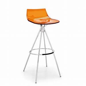 Tabouret Bar 65 Cm : connubia tabouret de bar led orange assise 65 cm tabouret de bar connubia sur maginea ~ Teatrodelosmanantiales.com Idées de Décoration