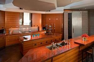 Granit Arbeitsplatte Küche Preis : arbeitsplatte aus granit in der modernen k che vor und ~ Michelbontemps.com Haus und Dekorationen
