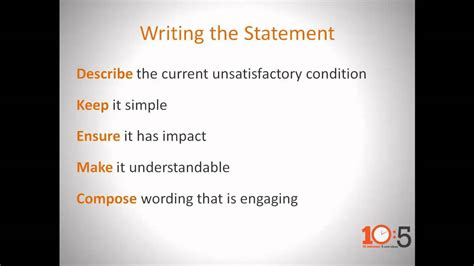 connsteps     effective problem statement
