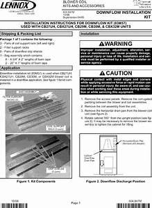 Lennox Air Handler  Indoor Blower U0026evap  Manual L0805326
