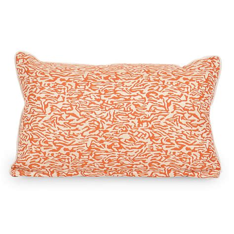 coral outdoor pillow coral starfish indoor outdoor lumbar pillow orange