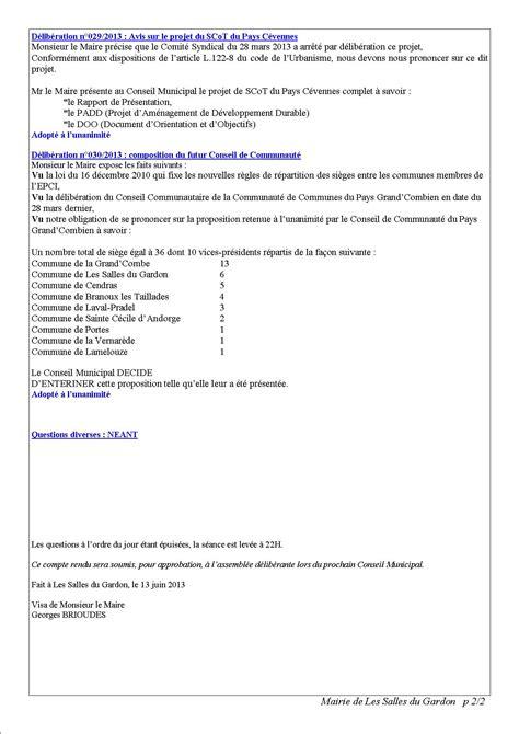 les salles du gardon accueil gt publications gt comptes rendus du conseil municipal