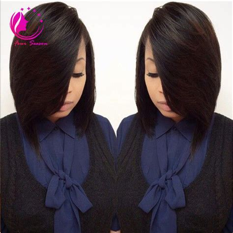 Layered Bob Cut Wigs Virgin Brazilian Human Hair Lace