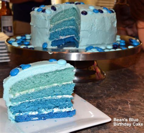 Bean's Blue Birthday Cake  Butter Is Better