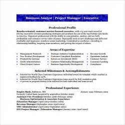 How To Write Resume For Business Analyst by Sle Business Analyst Resume 8 Documents In Pdf Word