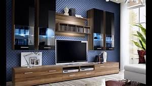Meuble Tv Design Bois : meuble tv design mural laqu bois led youtube ~ Melissatoandfro.com Idées de Décoration