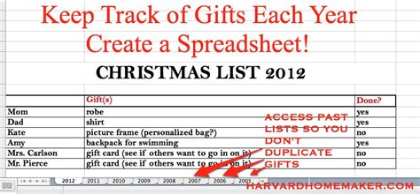 buying gifts tracker sheet tips tricks archives harvard homemaker