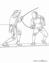 Fencing Coloring Pages Sport Martial Arts Hellokids Printable Sheets Cartoon Sports Boxing sketch template