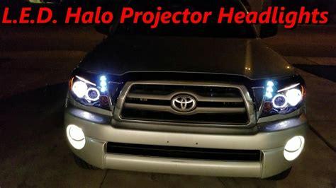 diy tacoma   led halo projector headlights