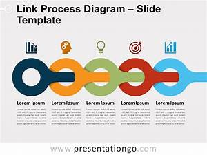 Link Process Diagram For Powerpoint And Google Slides