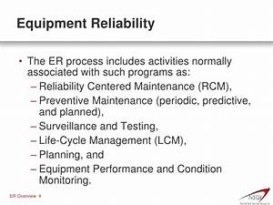 NSGI Equipment Reliability Short Overview