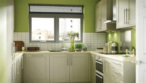 cuisine blanche et verte décoration cuisine vert olive