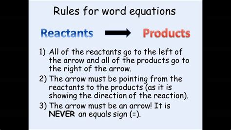 practice writing chemical equations from word equations youtube ks3 chemistry writing word equations youtube