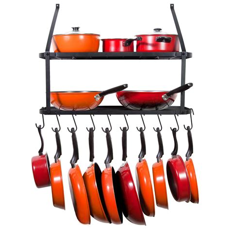 hanging pot rack hooks vdomus pot rack hooks black s style for kitchen pot