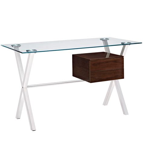 williams  glass top computer desk