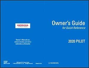 2020 Honda Pilot Owner U0026 39 S Guide