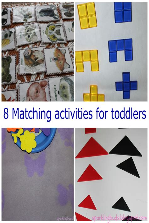 matching activities  toddlers sparklingbuds