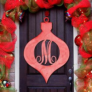 az personalized letter red christmas ornament decorative With decorative letter ornaments