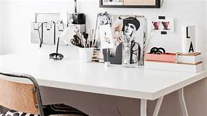 Bureau Noir Et Blanc : un bureau blanc noir et bois shake my blog ~ Melissatoandfro.com Idées de Décoration