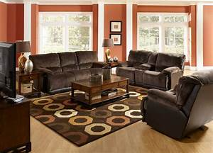 Living room brown couch minimalist sofas in rooms with for Black and brown furniture in living room