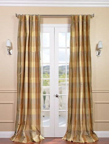 Silk Plaid Drapes - 7 best designer silk plaid curtains images on