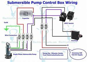 Single Phase 3 Wire Submersible Pump Wiring Diagram