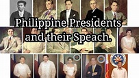 Philippine Presidents and their Speach - YouTube