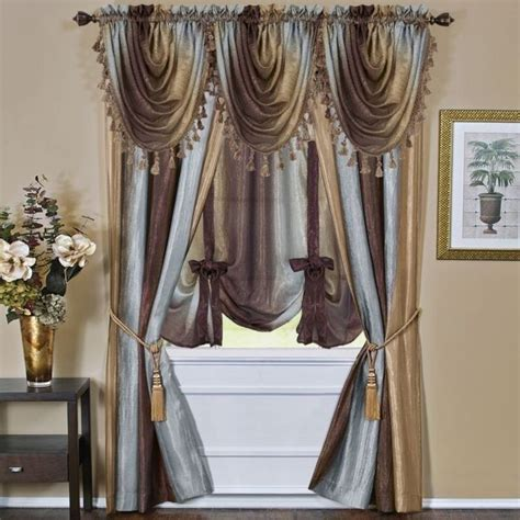 ombre window curtains achim ombre panel ompn63ch06 window curtain 63 quot x 50 quot new