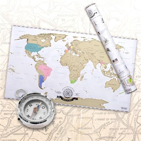 Carte Du Monde Francais by Carte Du Monde 224 Gratter Id 233 E Cadeau Sur Ilokdo
