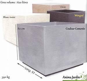 Jardiniere Plastique Gros Volume : bac carr en b ton cir gros volume maxi 97cm framusa ~ Dailycaller-alerts.com Idées de Décoration