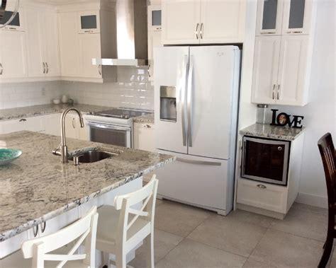 comptoir de cuisine blanc comptoir de cuisine en granit blanc de granit rb design