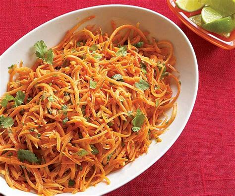 Click here to view calories for carrot dosa. Shredded Carrots with Jalapeño, Lime & Cilantro - Recipe - FineCooking