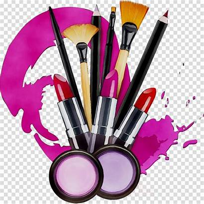 Makeup Clipart Cosmetics Transparent Clip Brush Brushes