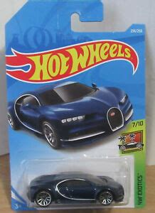 Hot wheels factory fresh 10 pack mini collection, 10 1:64 scale themed vehicles each highly detailed with stylish design, gift for collectors kids ages 3 years old & up amazon exclusive. 2019 Hot Wheels Blue Bugatti Chiron '16 MONMIC HW Exotics car NEW VHTF Long Card   eBay