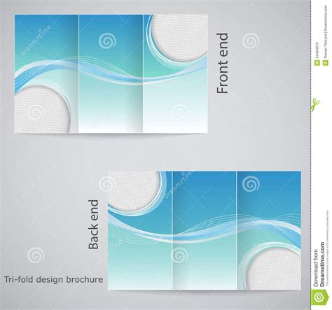 tri fold brochure design stock vector image  layout