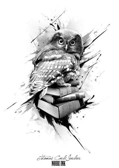 Owl with books tattoo design | Tatuagem, Tatuagem coruja e Ideias de tatuagens