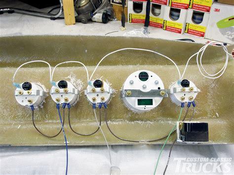 custom dash gauge install hot rod network