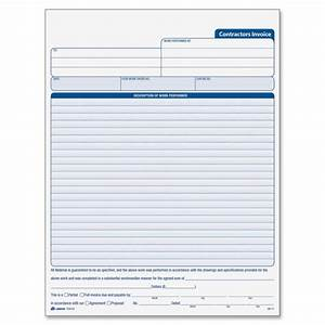 adams tc8122 contractor39s invoice book 50 sheets 3 With adams invoice dc5840
