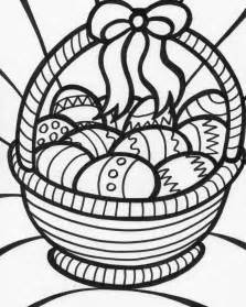 coloring page easter basket download