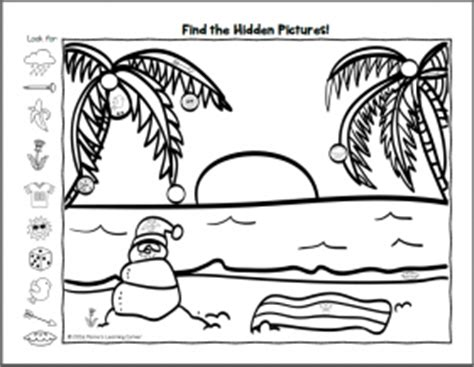 find  winter hidden picture worksheets mamas learning