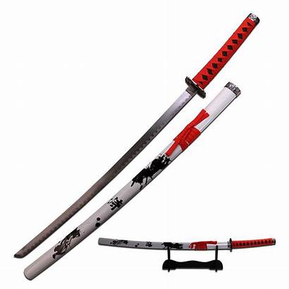 Katana Sword Samurai Japanese Steel Carbon Scabbard