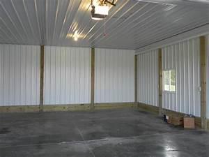 Finish pole barn inside walls joy studio design gallery for Pole barn garage interior ideas