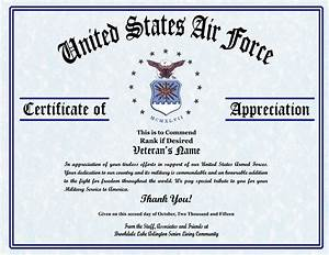 air force certificate of appreciation template military With air force certificate of appreciation template